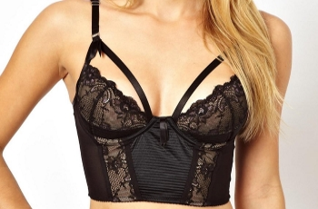 Black Longline Push Up Bra